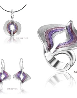 Volva Silver Handmade Violet Earrings Collection Daniel Vior