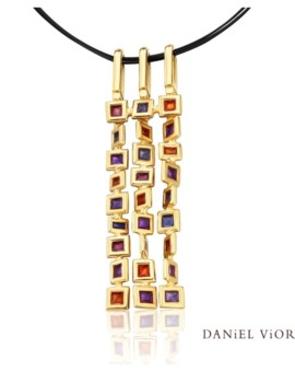 Cuadros Handmade 18ct Gold Necklace by Daniel Vior
