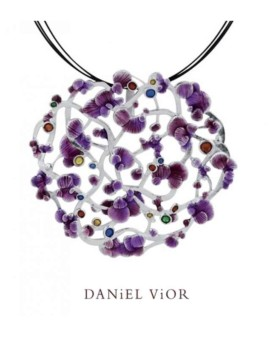 Calicaos Handmade Violet Necklace by Daniel Vior