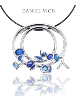 Branca Handmade Silver Blue Necklace by Daniel Vior