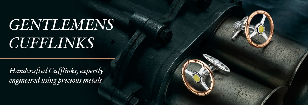 Gentlemen's Cufflinks - Handcrafted cufflinks, expertly engineered using precious metals
