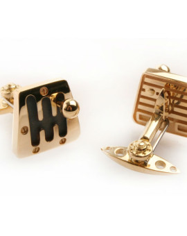 A pair of Cambio 60S Gold Cufflinks