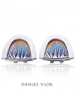 Capillars Handmade Silver Earrings by Daniel Vior