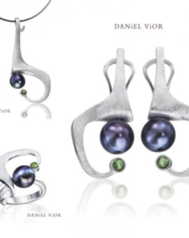 Ancyla Handmade Silver Black Pearl Collection by Daniel Vior