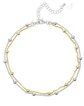 Vamp Chic Gold And Silver Ankle Chain Vamp London