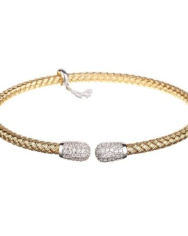 Entwined Gold Cluster Bracelet Vamp London
