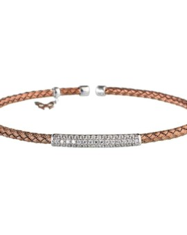 Entwined Chocolate Gold Bar Bracelet Vamp London