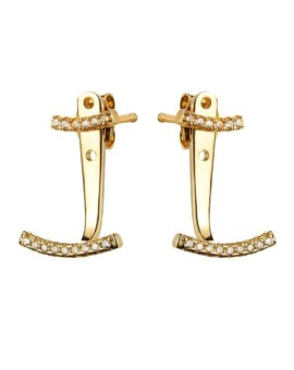 Attitude Gold Ear Jackets Vamp London