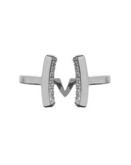 Attitude Silver Cuff Ring Vamp London