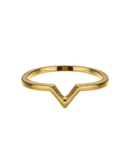 Attitude Gold Stackable V Ring Vamp London