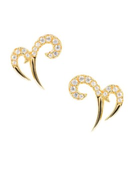Gold Double Spike Earrings Vamp London