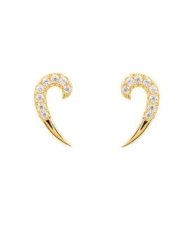 Gold Single Spike Earrings Vamp London