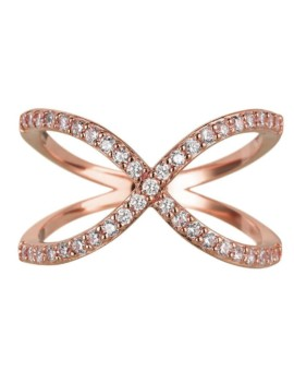 Sahara Rose Gold Crossover Ring Vamp London