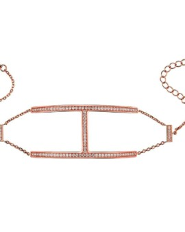 Sahara Rose Gold H Bracelet Vamp London