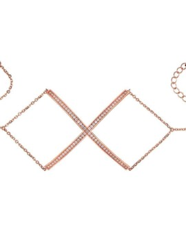 Sahara Rose Gold X Bracelet Vamp London