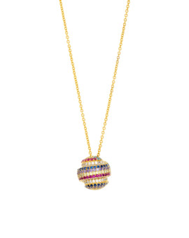 Gobstopper Necklace Sterling Silver and 18ct Gold Joubi London