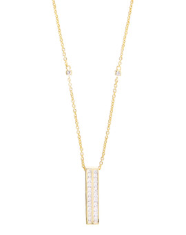 Oblong Handmade Yellow Gold Necklace Joubi London