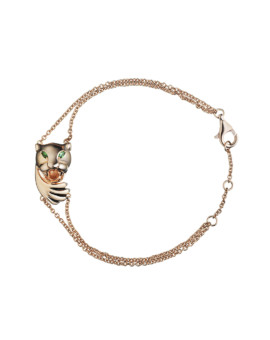 Hamsa Panther Hidden Rose Gold Protector Bracelet Joubi London