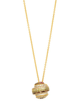Gobstopper Necklace Sterling Silver and Gold Joubi London