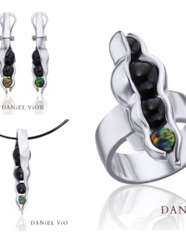 Vaina Silver Handmade Onyx Collection by Daniel Vior