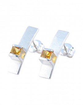 Midori Silver Handmade Earrings Natural Citrine Eugen Steier