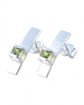 Midori Silver Handmade Earrings Natural Peridot Eugen Steier