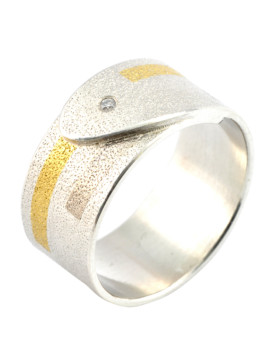 Tetris Handmade White Gold And Diamond Ring Eugen Steier