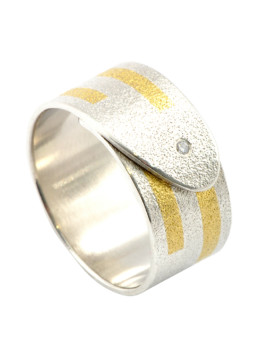 Tetris Handmade Diamond And Gold Ring Eugen Steier