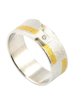 Tetris Handmade Gold And Diamond Ring Eugen Steier