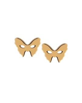 Masquerade Mask Gold Earrings Vamp London