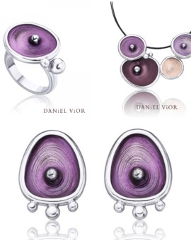 Drops Handmade Silver Violet Collection by Daniel Vior