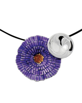 Basia Solaris Silver Handmade Necklace by Daniel Vior