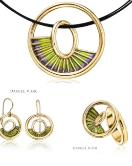 Equinox Handmade 18ct Gold Green Collection by Daniel Vior