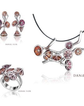 Ipomea Handmade Silver Red Collection by Daniel Vior
