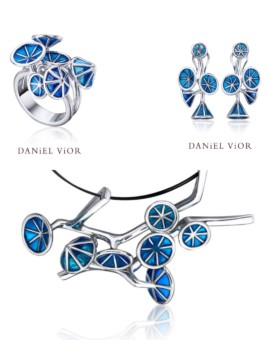 Ipomea Handmade Silver Blue Collection by Daniel Vior