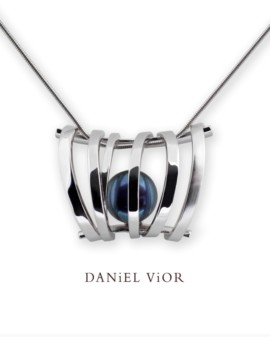 Asir Handmade Silver Black Pearl Necklace by Daniel Vior