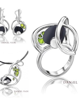 Matriu Silver Handmade Onyx Collection by Daniel Vior