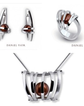 Asir Handmade Silver Brown Pearl Collection by Daniel Vior