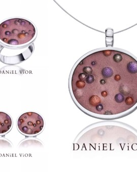 Nebulosa Handmade Silver Brown Collection by Daniel Vior