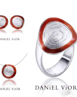 Circis Handmade Silver Red Enamel Collection by Daniel Vior