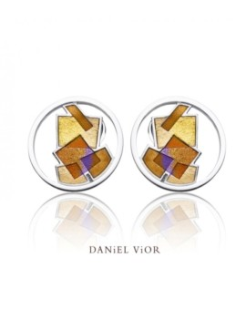 Interseccions Handmade Silver Earrings by Daniel Vior