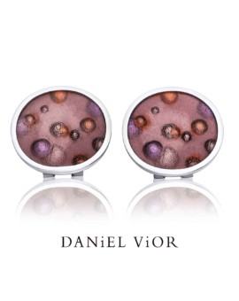 Nebulosa Handmade Silver Brown Earrings by Daniel Vior