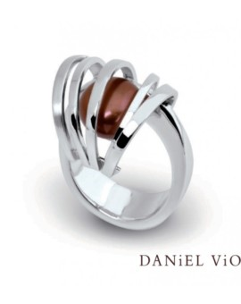 Asir Handmade Silver Brown Pearl Ring by Daniel Vior