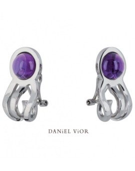 Medusa Silver Handmade Amethyst Earrings by Daniel Vior