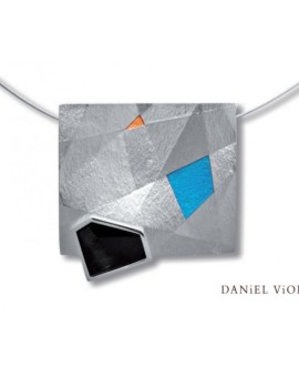 Metafaz Silver Handmade Onyx Necklace by Daniel Vior