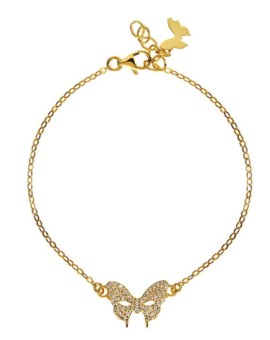 Masquerade Mask CZ Gold Bracelet Vamp London