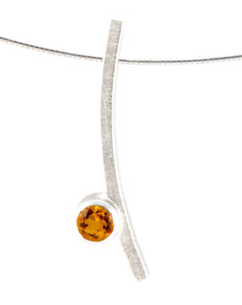 Katana Silver Handmade Necklace Natural Citrine Eugen Steier