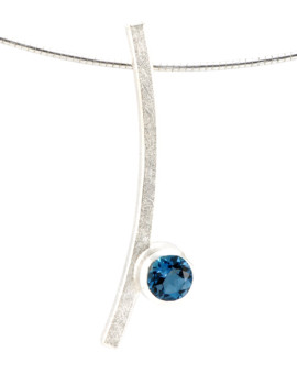 Katana Silver Handmade Necklace London Blue Topaz Eugen Steier