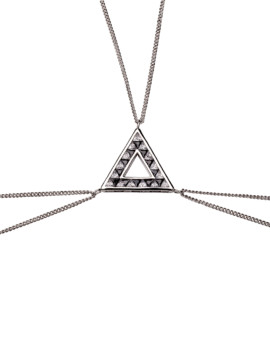 Twilight Aurora White Gold CZ Body Chain Joubi London