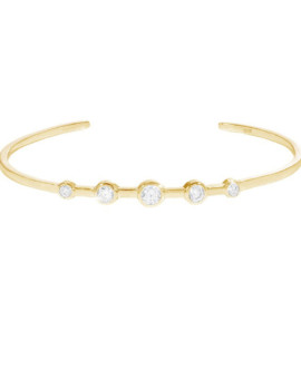 Cluster Cuff Yellow Gold Bracelet Joubi London